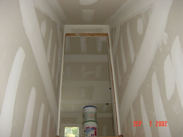 Basement Stairs with Sheetrock