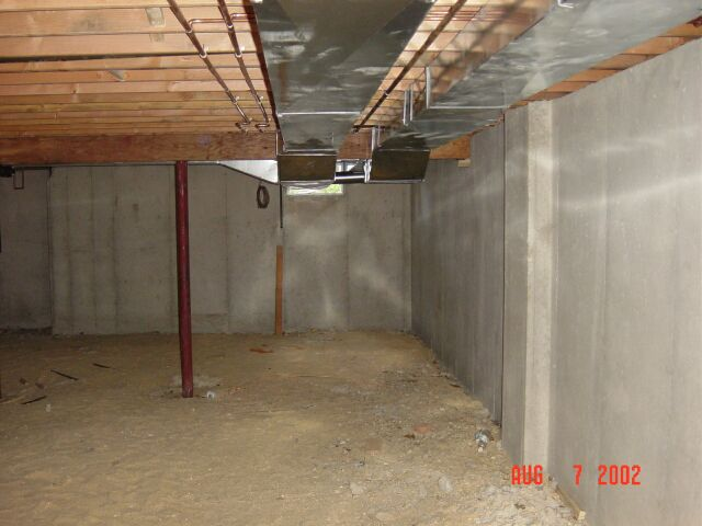 Ductwork in the Basement