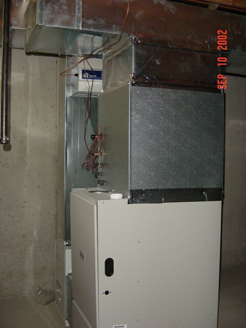 Other picture of the furnace in the Basement