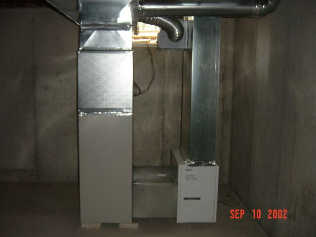 Picture of the Furnace in the Basement