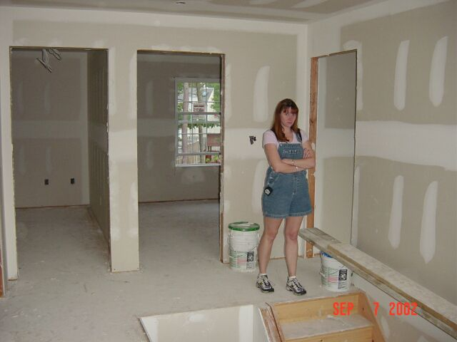 Here is the second floor with Kimberly not looking happy